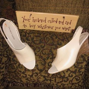 Franco Sarto 🆕Tahoe Heels Womens Sz 9.5 Ivory